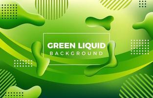 fond vert avec des formes liquides fluides vecteur