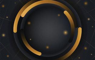 élégant motif circulaire noir et or moderne vecteur