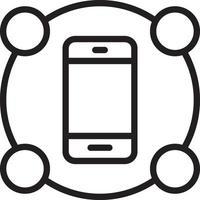 icône de ligne pour les fonctionnalités vecteur