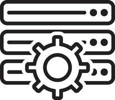 icône de ligne pour les paramètres vecteur