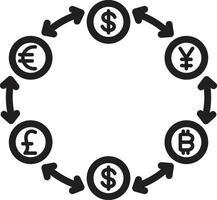 icône de la ligne pour de l & # 39; argent