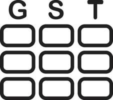icône de ligne pour gst