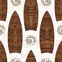 planches de surf en bois et signes vector modèle sans couture. modèle sans couture de l'été. imprimer pour la conception de tissu.