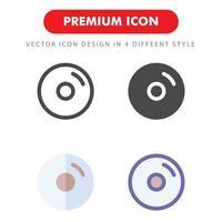 pack d'icônes de disque isolé sur fond blanc. pour la conception de votre site Web, logo, application, interface utilisateur. illustration graphique vectorielle et trait modifiable. eps 10. vecteur