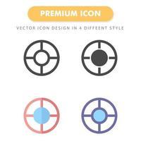 pack d'icônes cible isolé sur fond blanc. pour la conception de votre site Web, logo, application, interface utilisateur. illustration graphique vectorielle et trait modifiable. eps 10. vecteur