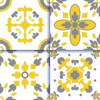 motif de carrelage portugais azulejos vecteur