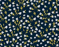 modèle sans couture de printemps avec de jolies fleurs. textile de flore d'été dessiné à la main vecteur