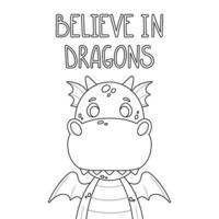 dragon de dessin animé mignon. vecteur