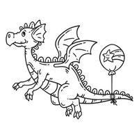 dragon volant de dessin animé.