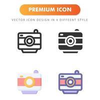 icône de caméra isolé sur fond blanc. pour la conception de votre site Web, logo, application, interface utilisateur. illustration graphique vectorielle et trait modifiable. eps 10. vecteur