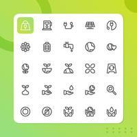 pack d'icônes d'environnement isolé sur fond blanc. pour la conception de votre site Web, logo, application, interface utilisateur. illustration graphique vectorielle et trait modifiable. eps 10. vecteur