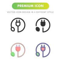icône de prise isolé sur fond blanc. pour la conception de votre site Web, logo, application, interface utilisateur. illustration graphique vectorielle et trait modifiable. eps 10. vecteur