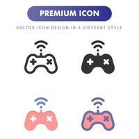 icône de contrôleur de jeu vidéo isolé sur fond blanc. pour la conception de votre site Web, logo, application, interface utilisateur. illustration graphique vectorielle et trait modifiable. eps 10. vecteur