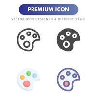 icône de palette de couleurs isolé sur fond blanc. pour la conception de votre site Web, logo, application, interface utilisateur. illustration graphique vectorielle et trait modifiable. eps 10. vecteur