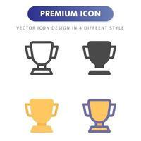 icône de trophée isolé sur fond blanc. pour la conception de votre site Web, logo, application, interface utilisateur. illustration graphique vectorielle et trait modifiable. eps 10. vecteur