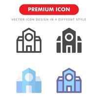 pack d'icônes de bâtiment scolaire isolé sur fond blanc. pour la conception de votre site Web, logo, application, interface utilisateur. illustration graphique vectorielle et trait modifiable. eps 10. vecteur