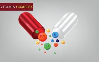 vecteur de suppléments de capsule