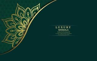 Fond De Mandala Ornemental De Luxe Avec Style De Motif Orient Islamique Arabe Vecteur Premium
