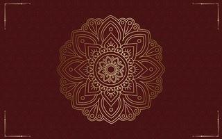 Fond De Cadre Décoratif Ornemental Floral Et Mandala Luxe Vecteur Premium