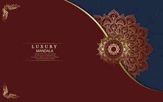 fond orné de mandala or de luxe pour invitation de mariage, couverture de livre vecteur