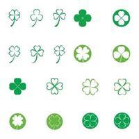vecteur de conception de feuille de trèfle vert