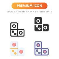 icône de domino isolé sur fond blanc. pour la conception de votre site Web, logo, application, interface utilisateur. illustration graphique vectorielle et trait modifiable. eps 10. vecteur