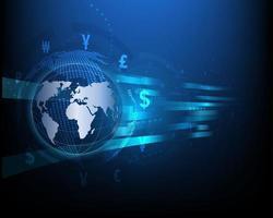 technologie de change abstrait bleu réseau haute vitesse entreprise