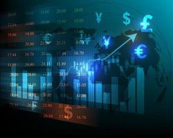 graphique boursier financier de l & # 39; investissement des entreprises et de l vecteur