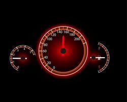 fond de mouvement de compteur de vitesse avec illustration vectorielle de compteur de vitesse vecteur