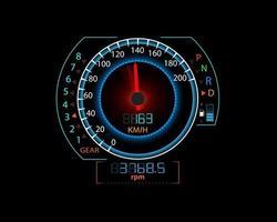 compteur de vitesse et illustration de fond de mouvement de course vecteur