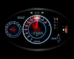 fond de mouvement de compteur de vitesse vecteur