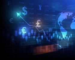 Graphiques du marché boursier finance des investissements commerciaux et illustration de la négociation boursière mondiale vecteur