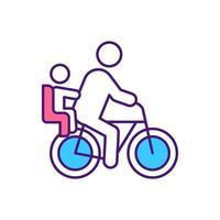 Icône de couleur rgb de conduite en toute sécurité en famille vecteur