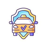 icône de couleur rgb de conduite en toute sécurité vecteur