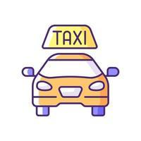 Icône de couleur rgb taxis vecteur