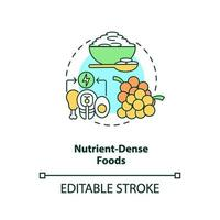 icône de concept d & # 39; aliments denses en nutriments vecteur