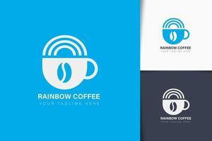 création de logo de café arc-en-ciel vecteur