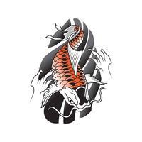 Illustration vectorielle de tatouage japonais vecteur