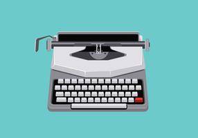 Illustration du milieu du siècle avec une machine à écrire rétro
