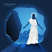 résurrection de jésus christ vecteur