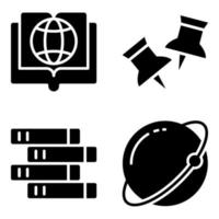 pack d'icônes solides de connaissances