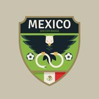 Insignes de football de la coupe du monde de Mexique vecteur