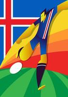 Joueurs de football d'Islande Coupe du monde vecteur