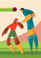 Illustration de joueurs de football de la Coupe du monde d'Islande vecteur