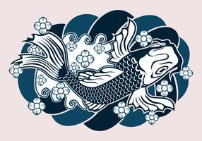 Conception de tatouage japonais vecteur