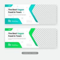 bannière de modèle de couverture de médias sociaux de nourriture culinaire