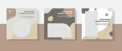 bannière de modèle de publication de médias sociaux vecteur