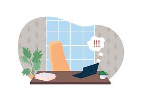 Bannière web de vecteur 2d de travail urgent, affiche
