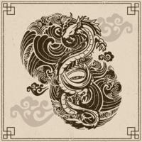 Tatouage japonais vecteur