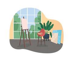 atelier d'artiste bannière web vecteur 2d, affiche